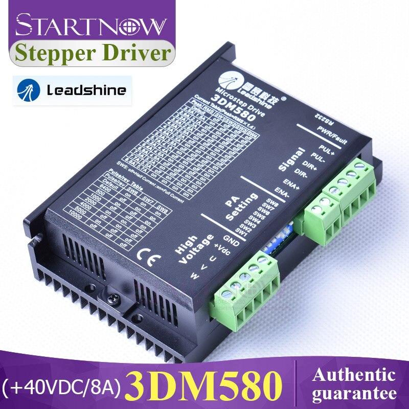 Leadshine 3 fase servo deslizante driver + 40 vdc entrada max 8a 3dm580 driver de motor deslizante para co2 cnc máquina a laser