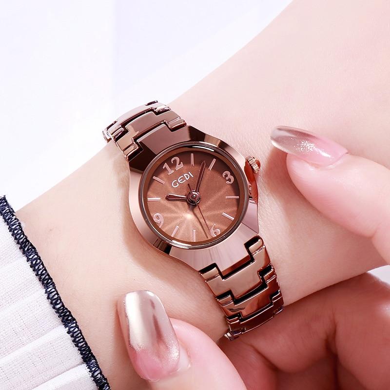 Pequena à Prova Relógio de Pulso Elegante Mulher Relógio Lazer Estudantes Moda Dms. Água Ms. Quartzo Relógios Atacado 2021 Cor