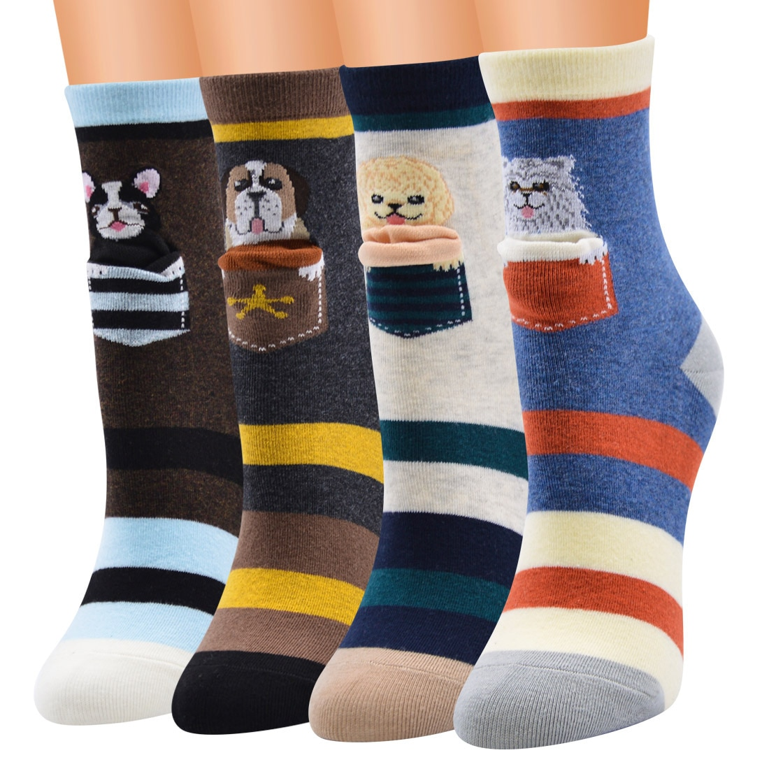 Latest Fashion Low Tube Ankle Size Unique Design Combed Cotton Knitted Novelty Socks for Women And Girls