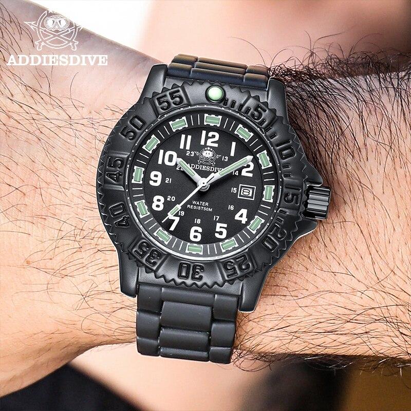 Adidas-ساعة غوص عسكرية للرجال ، متعددة الوظائف ، مضيئة ، خارجية ، ساعة من النايلون الناتو ، مقاومة للماء