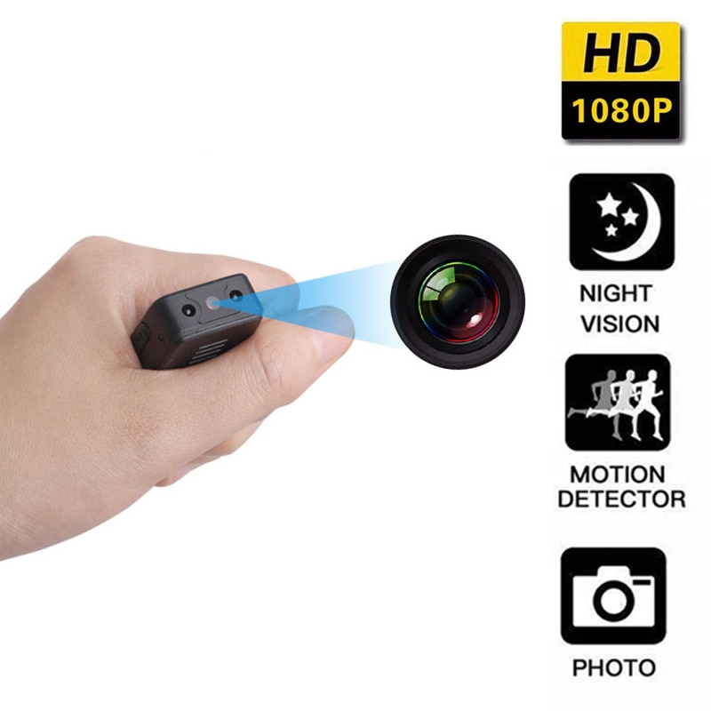 Mini Camera HD 1080P Law Enforcement Cam Magnetic Body Micro Camera with Motion Detection Snapshot Loop Recording Video Recorder