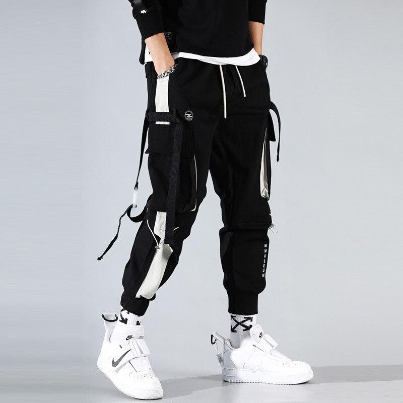 Брюки-карго мужские в японском стиле, уличная одежда, спортивные штаны в стиле хип-хоп, одежда для мужчин, Джоггеры в стиле Харадзюку, брюки в...