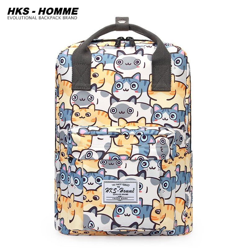 Fashion Printing  Laptop Backpack Women Canvas Bags Men canvas Travel Leisure Backpacks Casual Bag School Bags For Teenager