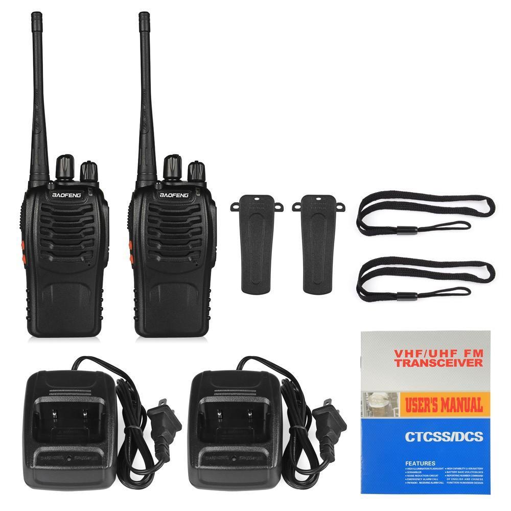 4pcs original Baofeng BF-888S Walkie Talkie set walki-talki two way Transmitter Transceiver UHF radio for hunting outdoor worker enlarge