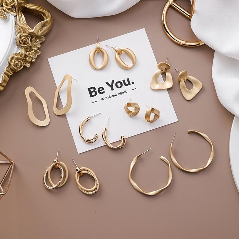 Moda irregular brincos de declaração para mulher 2020 geométrica brincos de ouro pendurado balançar earing moderno jóias femininas