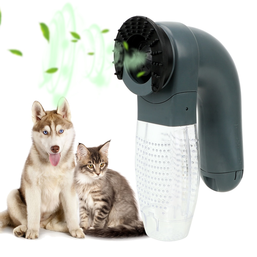Strong Suction Pet Grooming Cat Dog Animals Hair Comb Electric Suction Device Cat Dog Deshedding Clipper Vacuum Fur Cleaner