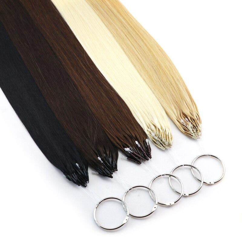 MRSHAIR-Extensions de cheveux naturels Remy   Extensions de cheveux humains, Micro bagues lisses, 8D, Micro perles, Invisible et épais, Double tirage, 50g