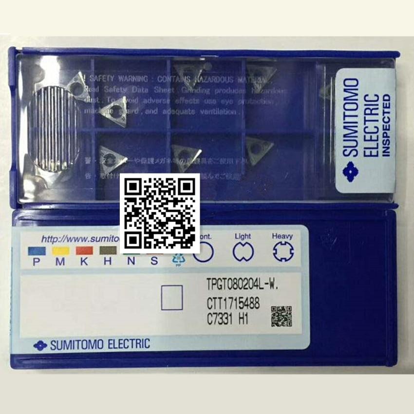 TBGT060102L-W AC530U/TBGT060102L-W AC530U/TPGT080202L-W AC530U H01/TPGT080204L-W AC530U H01  CNC carbide inserts 10PCS/BOX