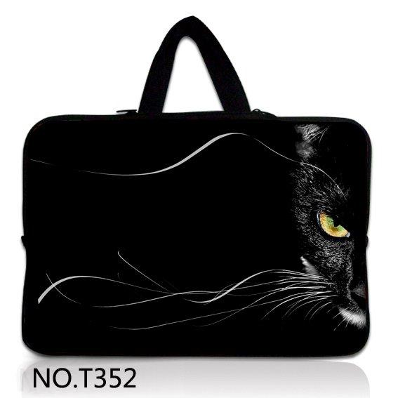 Cara Do Gato preto 11 12 13 14 15.6 15 17 Saco Luva Do Portátil Caso Bolsa Para Acer HP Dell Asus Lenovo Macbook Pro Ar Reitina Xiaomi