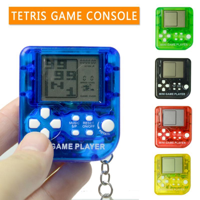 Классическая ностальгическая игровая консоль детства, портативная игровая мини-консоль Тетрис, брелок с ЖК-дисплеем, игрушка, рюкзак, декор...