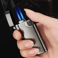 new double nozzles butane jet pipe lighter metal torch turbo windproof gas lighter 1300 c cigar cigarettes keychain lighters