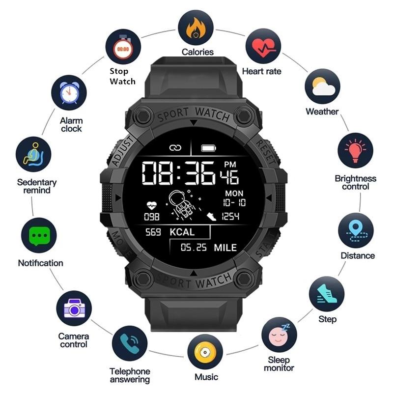 Waterproof Watches for Men Smart Watch Bracelet Heart Rate Blood Pressure Sleep Monitor Fitness Trac