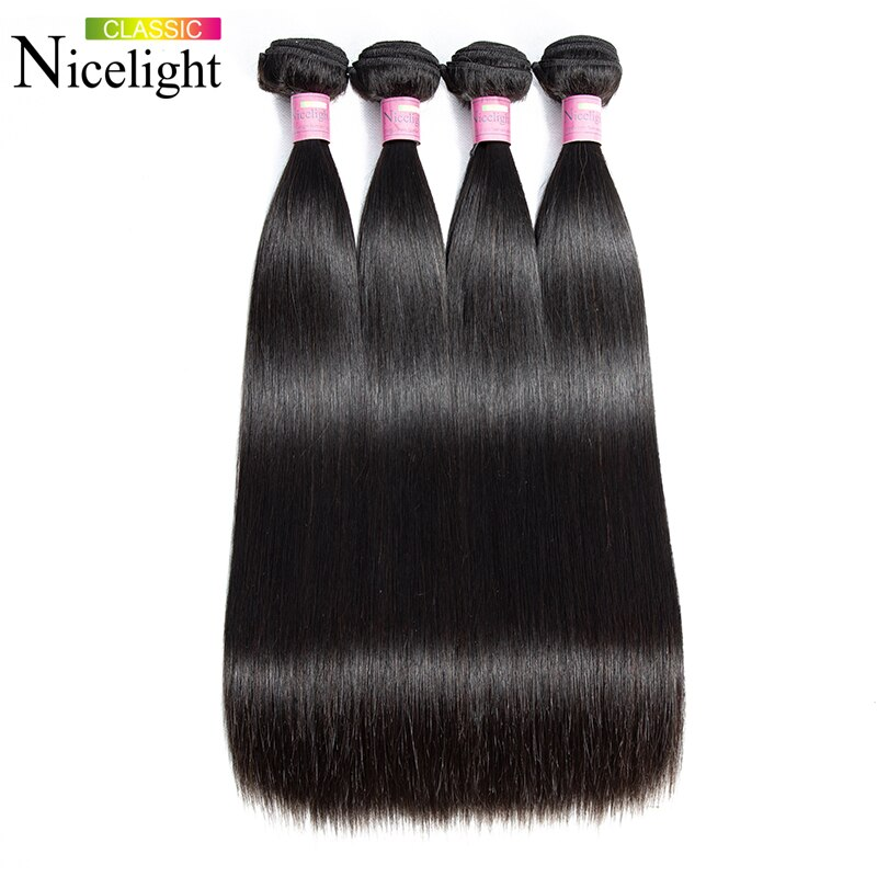 Straight Hair Bundles Indian Hair Bundles Nicelight Remy Human Hair Bundles Deals 1/3/4 Bundles Straight Hair Single Bundles