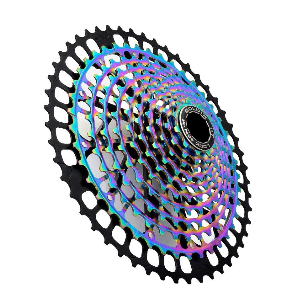 Mtb 11/12 velocidade ult hg cassete final 11-46/50t cassete ultraleve cnc mountain bike aço 11v 12v k7 roda dentada hg sistema