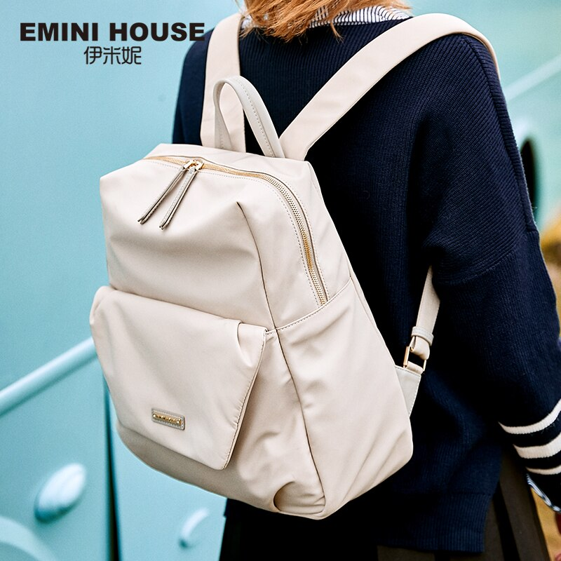 Mochila EMINI para portátil de nailon para casa, mochila escolar para mujer, mochila de viaje a la moda, bolsos de hombro con cremallera, mochilas espaciosas para adolescentes