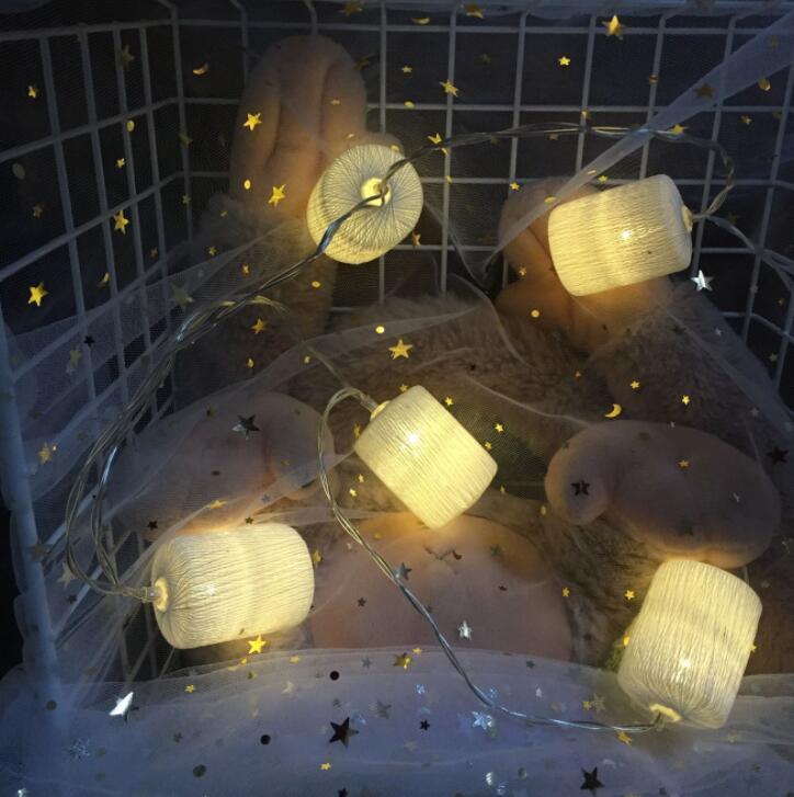 Romantic plastic rattan ball battery box LED lamp string Christmas decoration