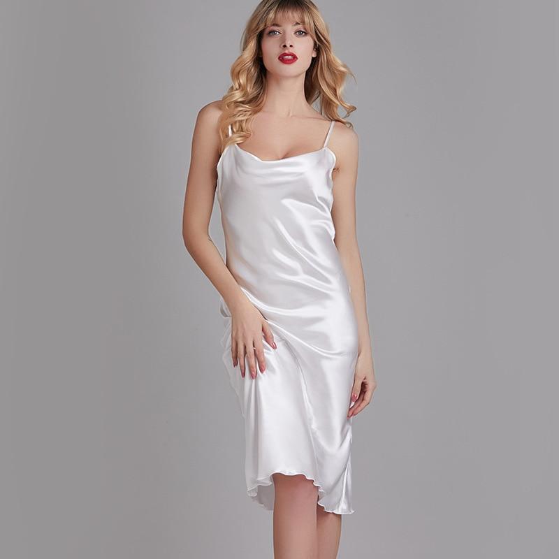 Summer Dresses For Women Sleepwear Nightdress Female Spring And Elegant Swing Collar Thin Home Service