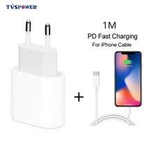 18W USB C tipi hızlı şarj adaptörü iPhone 11 pro Xs Max X Xr 8 artı PD hızlı şarj güç tipi-c ab tak Apple kablosu için