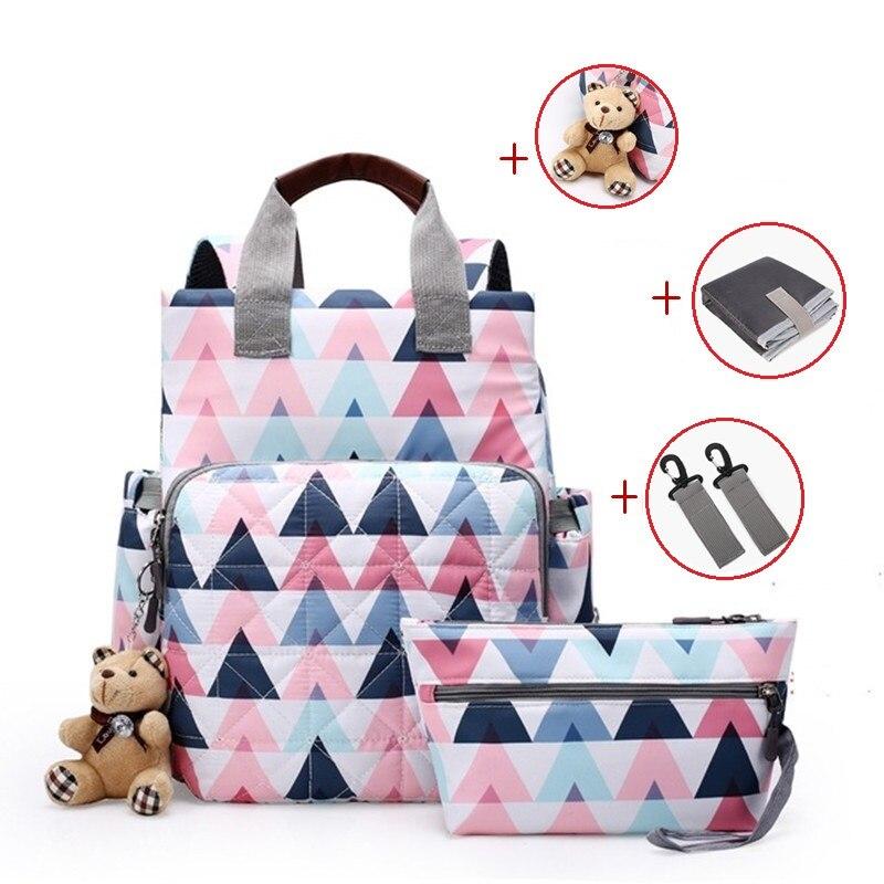 Рюкзак для мам, вместительный, для подгузников, для путешествий, сумка-тоут, дизайнерские пеленки для ухода за ребенком