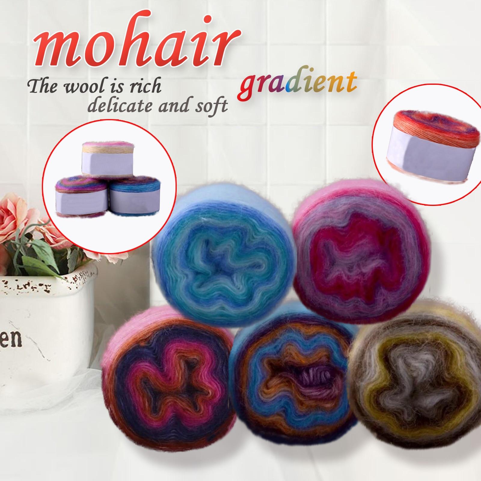 Magic Color-hilo de Mohair 7,0 para tejer a mano, bola de hilo...