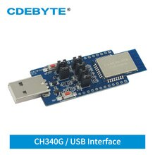 _ CH340G USB 2,4 ГГц 20 дБм тестовая плата UART ZigBee Module