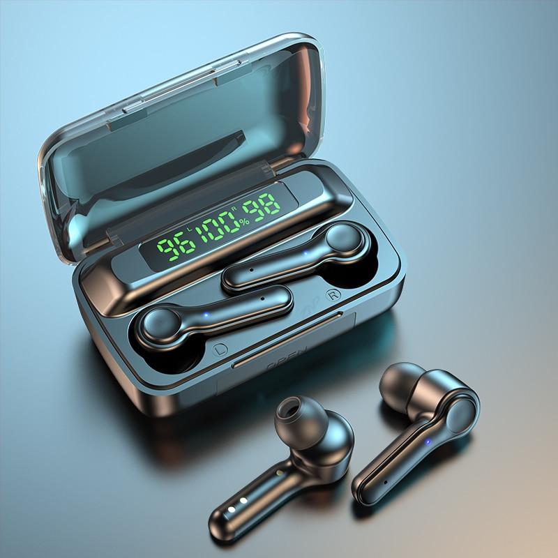 TWS Wireless Headphones Bluetooth Earphones With Microphone 2200 Mah Charging Box Sport Waterproof