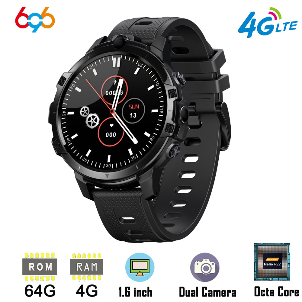 Promo 4G LTE Smart Watch Phone 1.6 Inch Full Cycle Full Touch Screen Helio P22 MTK6762 Octal-core CPU RAM 4GB ROM 64GB Smartwatch Phon