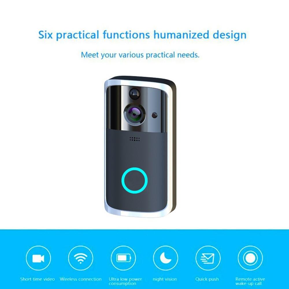 WiFi Visual Video Phone Door Bell Wireless Smart DoorBell Camera 2way Audio Video Doorbell Infrared Night View PIR Motion Sensor enlarge
