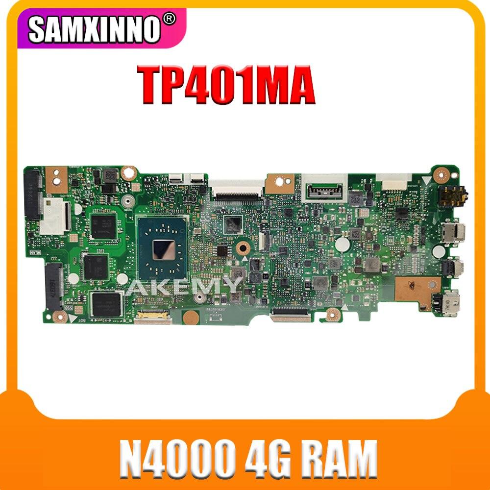 Para For Asus Vivobook abatible TP401MA TP401M placa base N4000 4GB RAM no con SSD