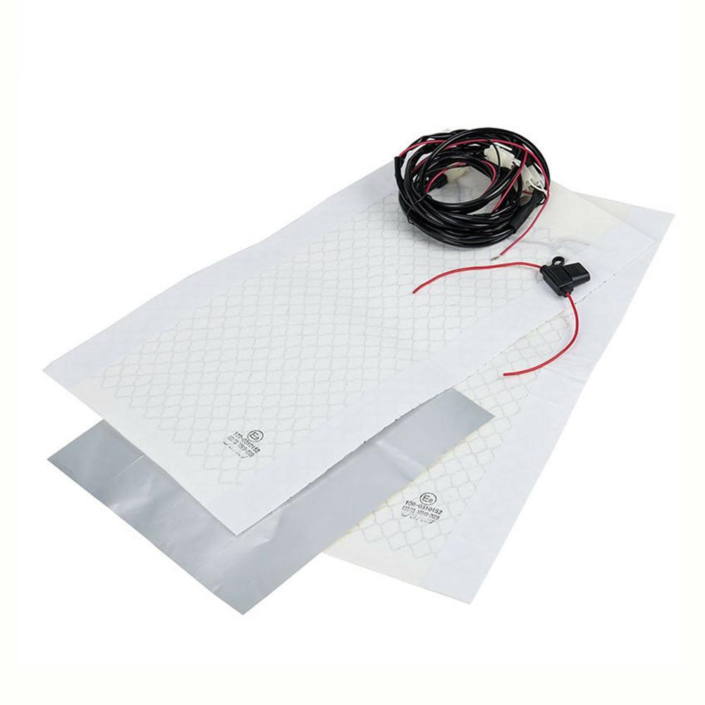 Car Seat Heater Pads Kit Set Universal Carbon Fiber Heating Heated Cushion Warmer for Auto SUVs Trucks RVs Boats enlarge