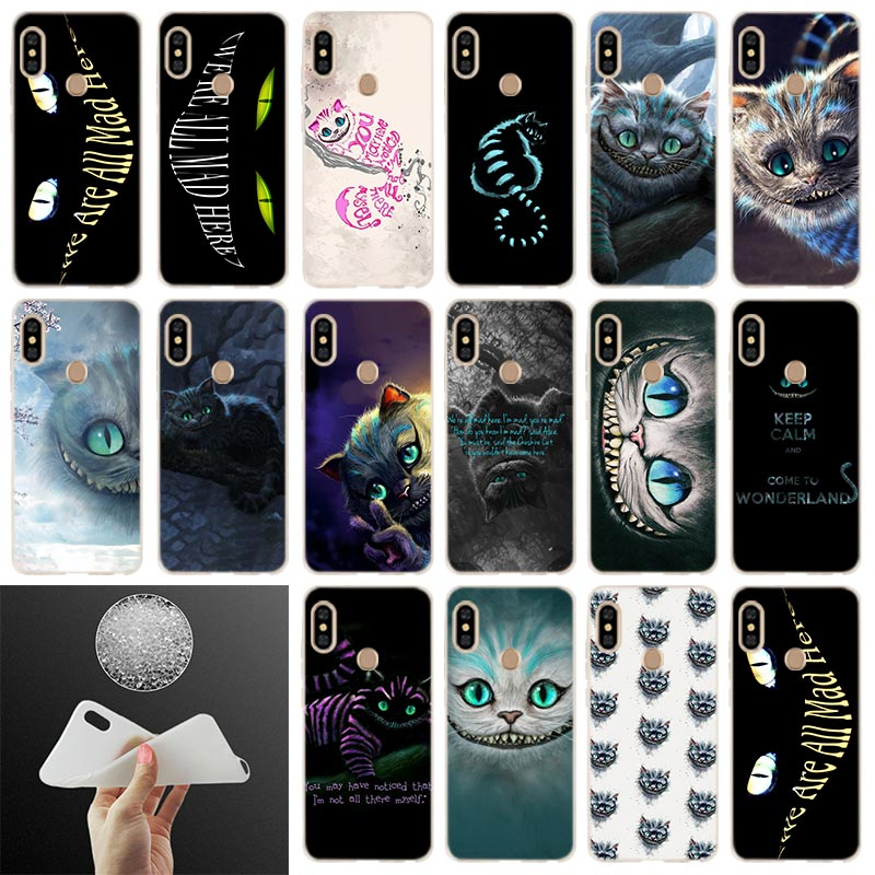 Cheshire gato brilhante capa macia para xiaomi redmi note 8 7 6 5 pro 8a 7 6pro 6a s2 5a 4a 5plus y3 coque funda etui casos