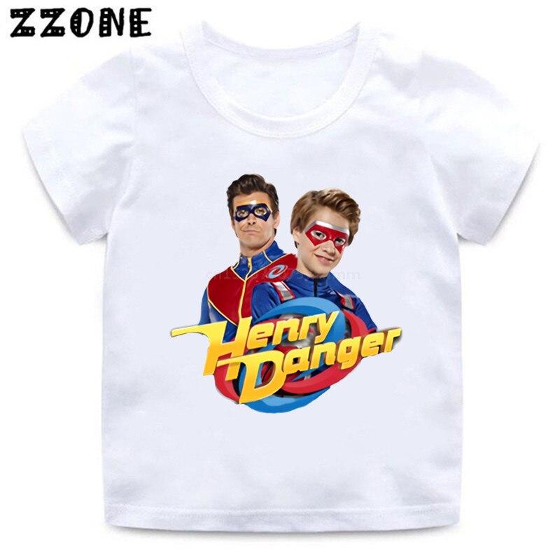Henry Danger-camisetas de dibujos animados para niños y bebés, divertidas camisetas informales,...