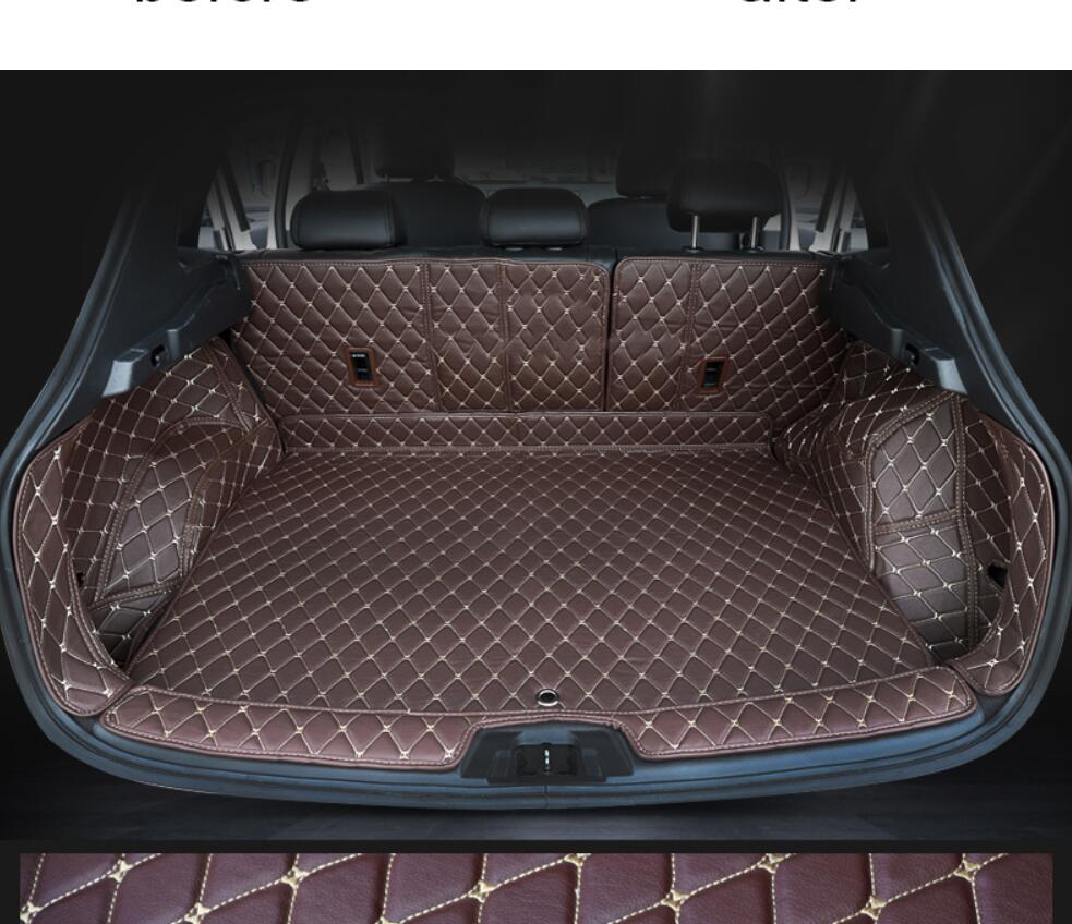 for Leather Car Trunk Mat Cargo Liner for Nissan Qashqai Rogue Sport 2020 2019 2018 2017 2016 2015 2014 2013 2012 2011