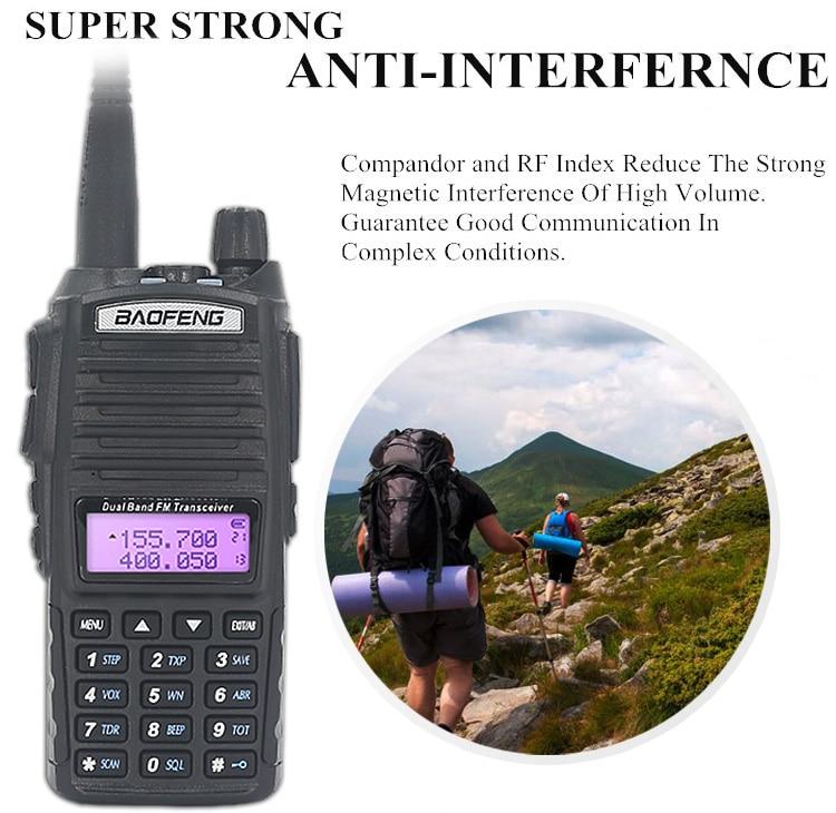 UV 82 Walkie Talkie 2PCS 10 KM 8W UV-82 Walkie-talkies Two-way Ham Radio Station VHF UHF Dual PTT Powerful UV 5R UV 9R enlarge