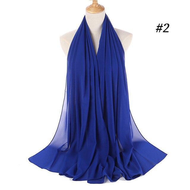 Для женщин однотонные Цвет шифон хиджаб шарф Обёрточная бумага Исламская шаль на голову мусульманский хиджаб обертывание платок шарфы 60 Цвета   Тематическая одежда и униформа   АлиЭкспресс