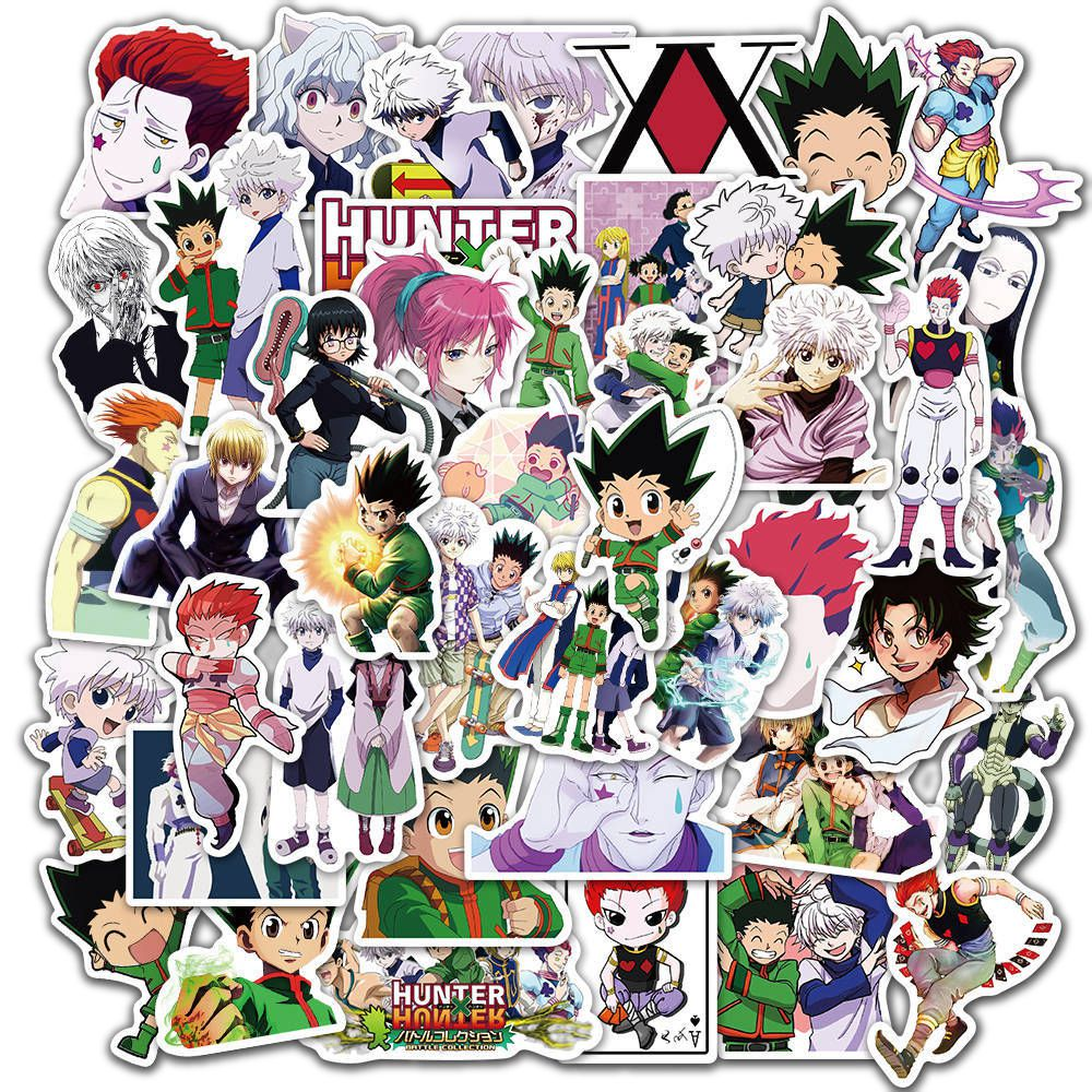 10/30/50pcs/Pack Hunter X Hunter Anime Stickers Laptop Bicycle Guitar Skateboard Sticker Kid DIY Graffiti Waterproof stikers Toy