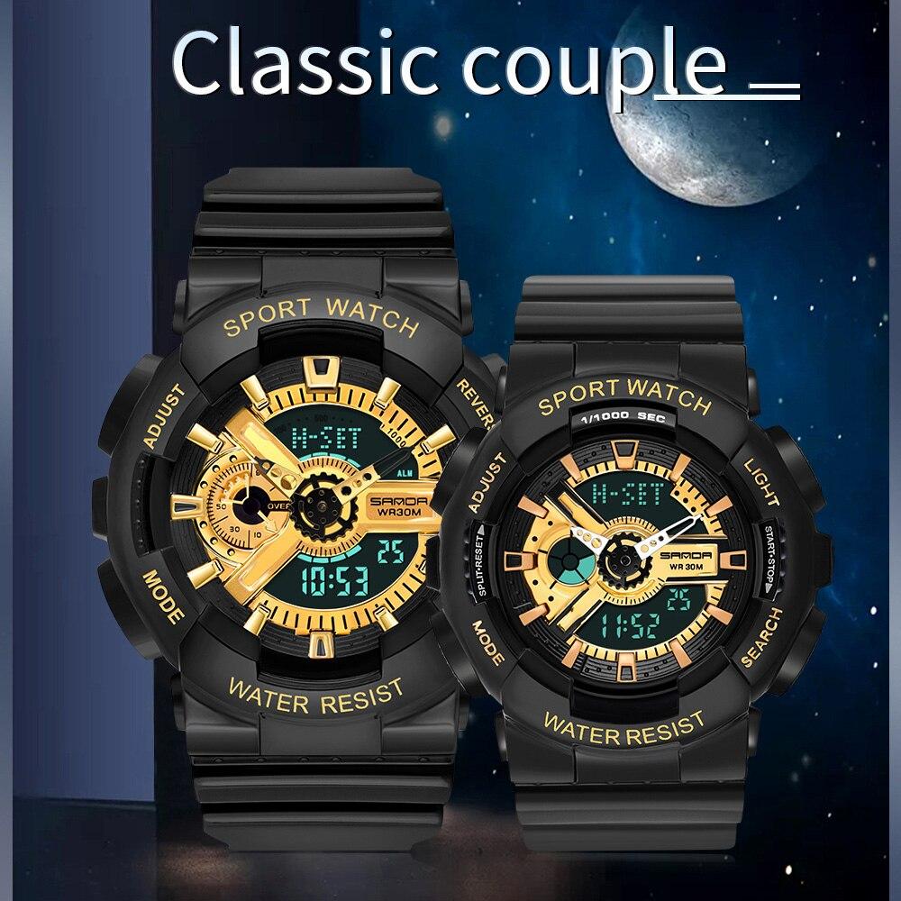 Women Men Couple Digital Wristwatches Led Switch Display Sport Watches Luminous Alarm Causal Creative Waterproof Watches enlarge