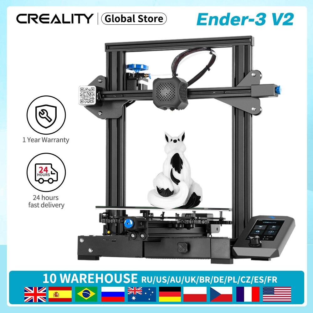 Ender-3 V2 CREALITY ثلاثية الأبعاد مجموعة الطابعة Slilent Mianboard شاشة عرض واجهة المستخدم الجديدة مع استئناف الطباعة