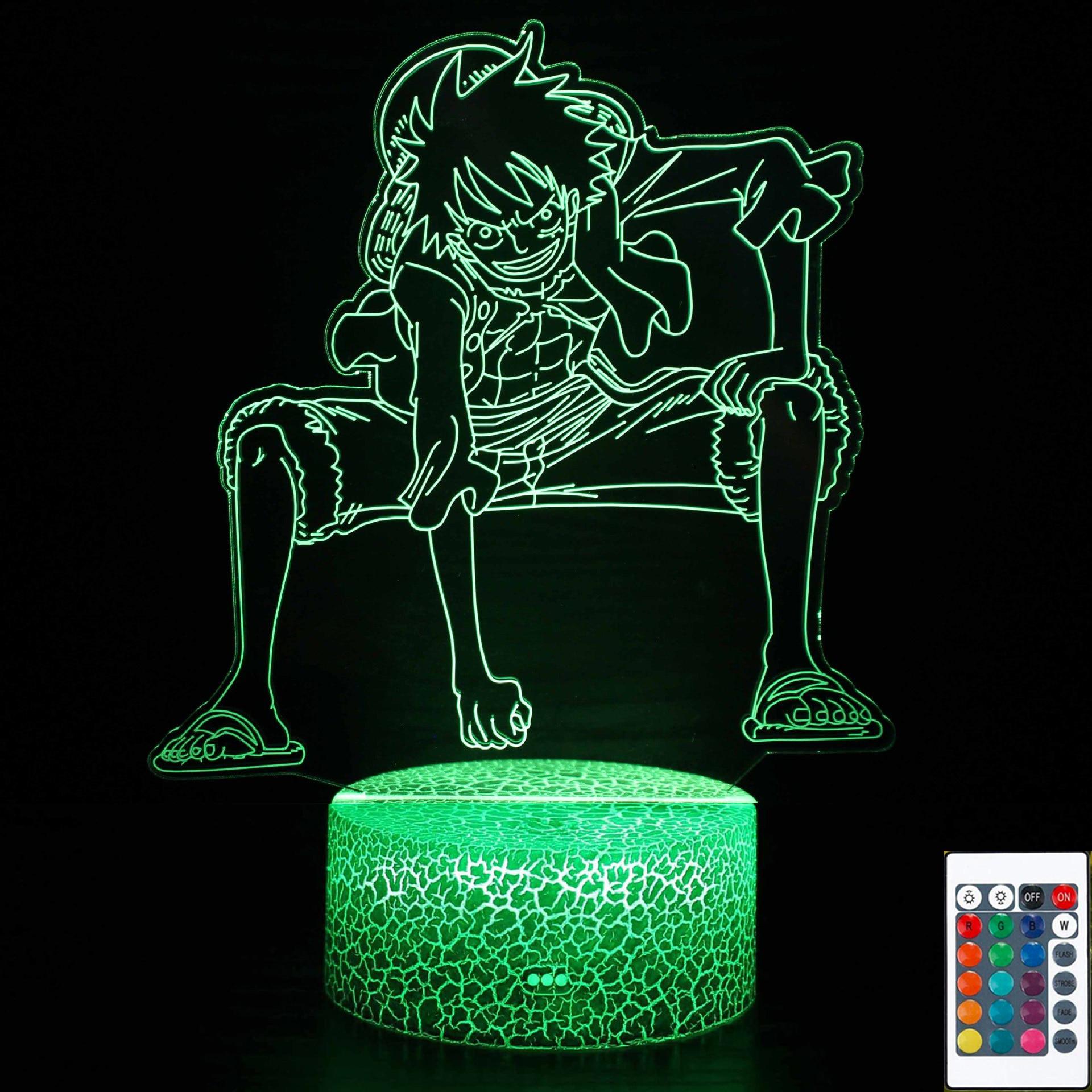 3D Lamp Anime One Piece Luffy Figure Table Lamps luminaria Child Sleeping Bedroom Decor USB LED RGB Night light Birthday Gifts