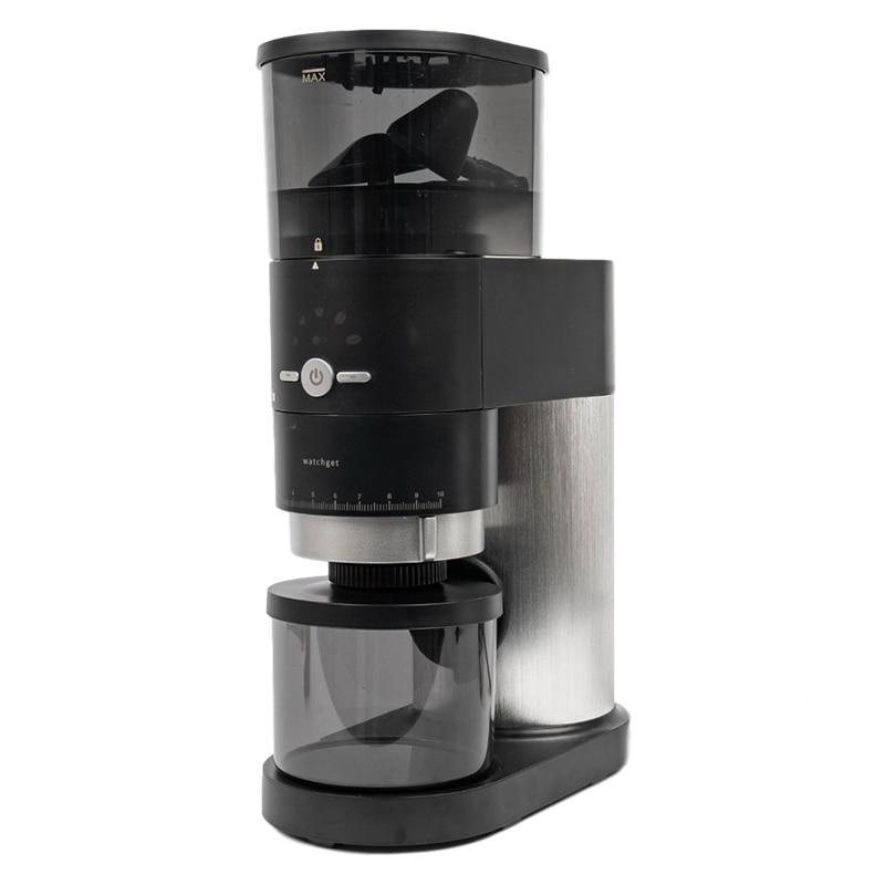 Watchget مطحنة قهوة كهربائية للتخمير ، مكبس فرنسي من الفولاذ المقاوم للصدأ ، مطحنة لدغ قابلة للتعديل للمنزل