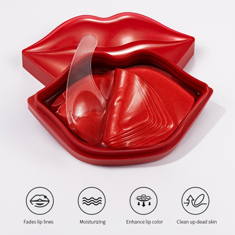 20pcs/ Set Lip Masks Moisturizing Anti-Drying Lightening Lip Lines Lip Care Beauty Hydrating Lips Sk