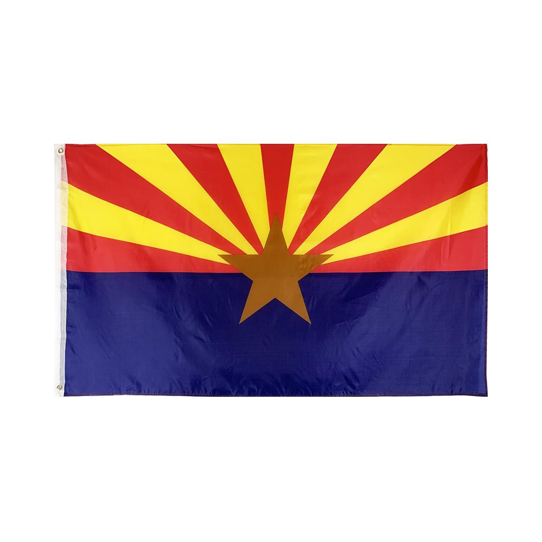 Флаги и баннеры Flagnshow 90x150 см, 3x5 футов, флаги штата Аризона и американские флаги для украшения
