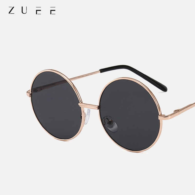 ZUEE Kids Retro Round Sunglasses Women Sunglasses Lens Alloy female Eyewear Frame Driver Sun Glasses