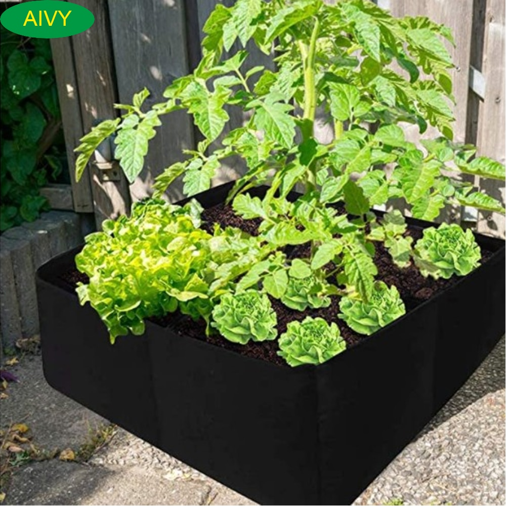 AliExpress - Garden Grow Bag Rectangle Breathable Planting Container  Anti-Corrosion Raised Planting Bed Gardening pots  Flowers Vegetables