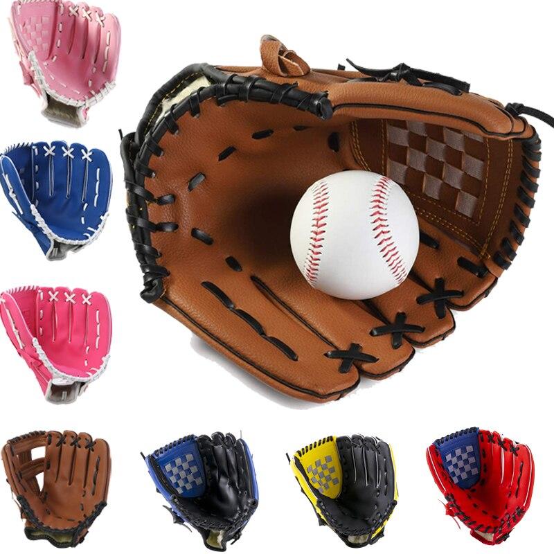 Спортивные Бейсбольные перчатки для молодых взрослых, спортивные перчатки для тренировок по софтболу на открытом воздухе, бейсбольные тре...