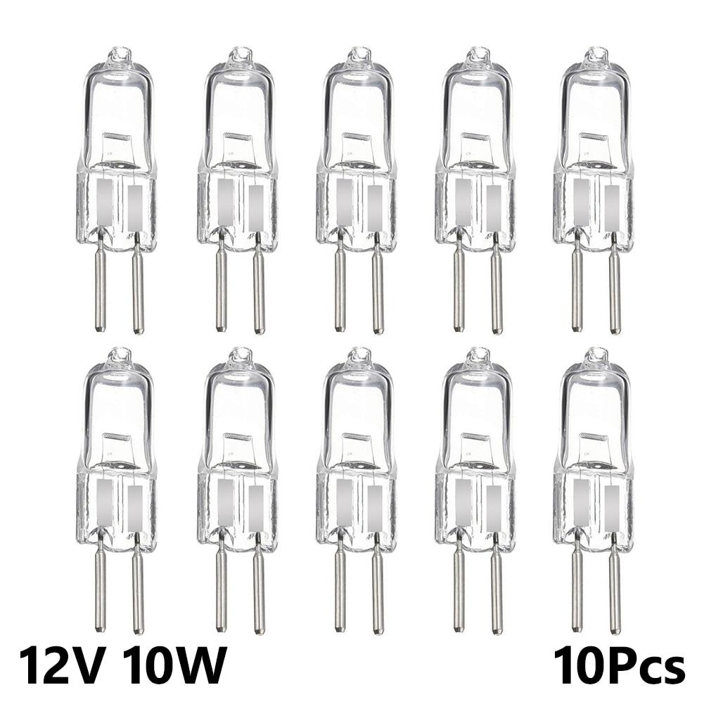 10 шт. 10 Вт вставленные бусины, Кристальные теплые лампочки, супер яркие ультра низкие цены, прозрачная галогенная лампа JC типа 12 В G4, внутренн...