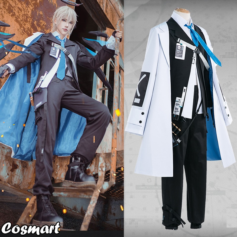 Traje de Halloween Outfit para Homem Jogo Arknights Executor Sectator Wutimiling Uniforme Cosplay Novo 2022
