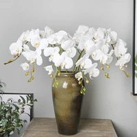 artificial silk white orchid flowers high quality butterfly moth fake flower for wedding party home festival decoration