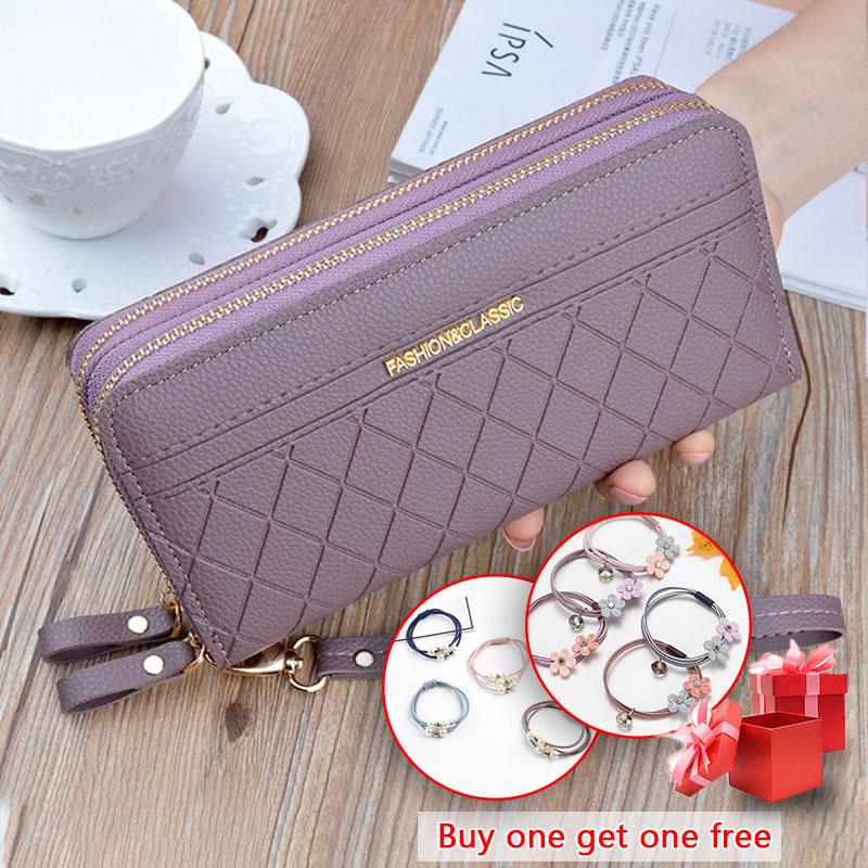 Long Women's Wallet Female Purses Tassel Coin Purse Card Holder Wallets Female Pu Leather Clutch Mon