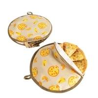 reusable tortilla insulation bag food cooler bag microwave oven bag pancakes cooler cover potato cake cooler bag lunch bag